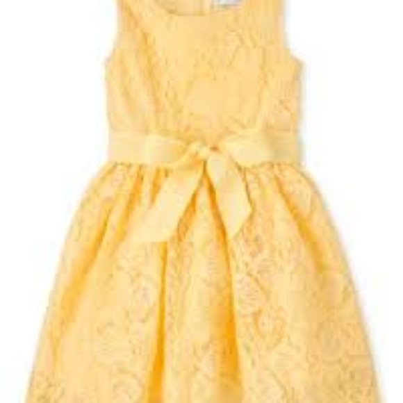 Yellow kids Easter dress, with leggings